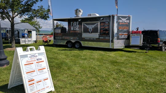 the Firewise BBQ food truck is set up to serve customers at a gig outside of its two regular locations in Greenfield.