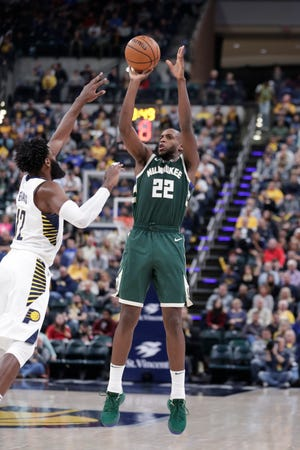 Over his past seven games, Middleton is 29 of 99 from the field (29.3 percent) and 14 of 48 from beyond the arc (29.2 percent).