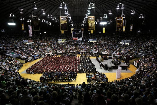 Fant-Ewing Coliseum was the setting for the University of Louisiana Monroe's commencement on Dec. 8, 2018.