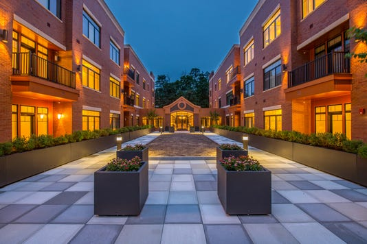 Madison Place Courtyard Evening