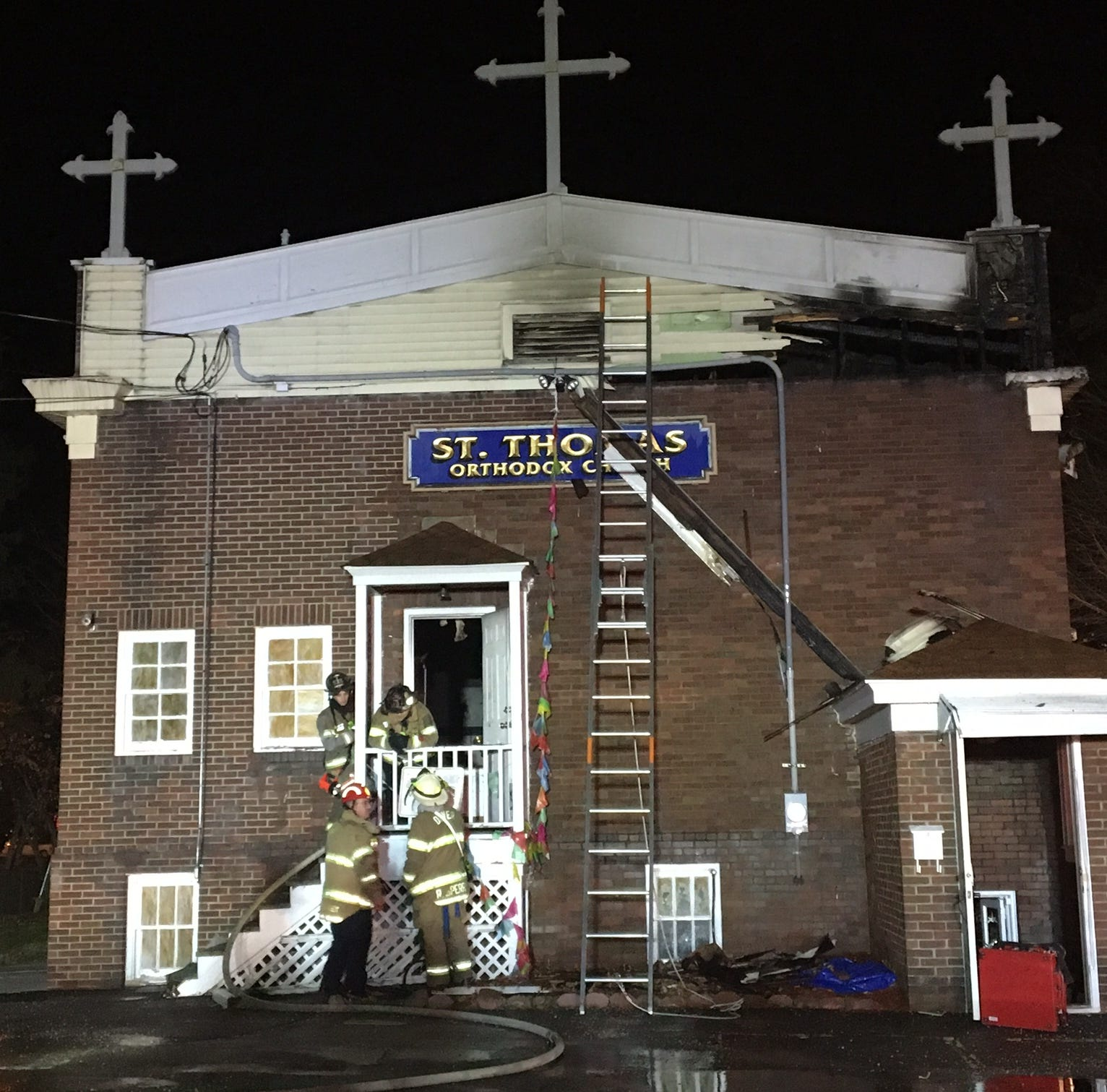 Fire damages St. Thomas Orthodox Church in Dover