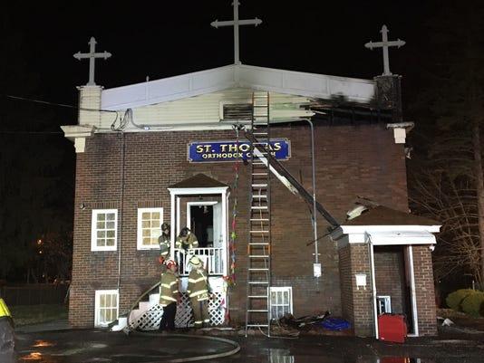 Fire St. Thomas Orthodox Church 12/13/18