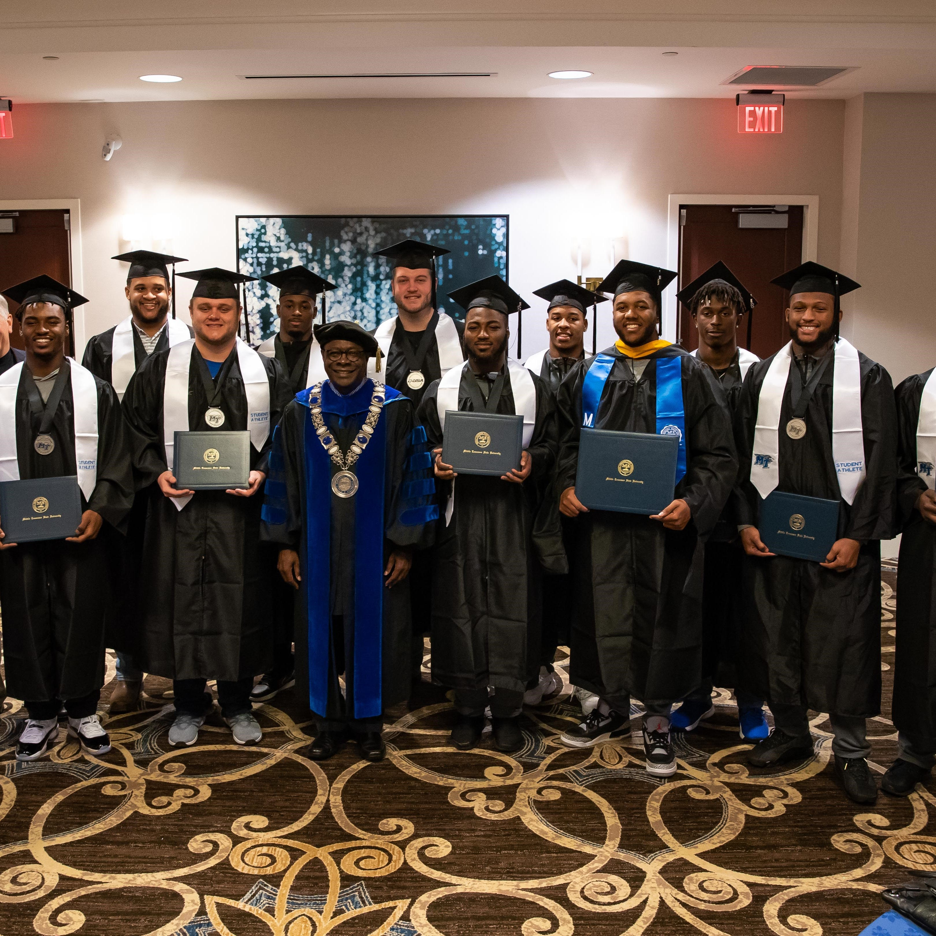 MTSU football holds graduation for 10 players, grad assistant before New Orleans Bowl