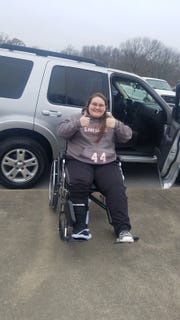 After breaking her pelvis in a wreck, Zoie Vanriper was given a used car through a love offering of the Northern Middle Tennessee Fellowship of Christian Athletes and help from Brian's Motorsports and Redline Motorplex.