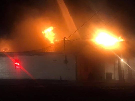 Fire ripped through the Historic White House American Legion Post 206 during the overnight hours on Wednesday, Dec. 12, 2018.