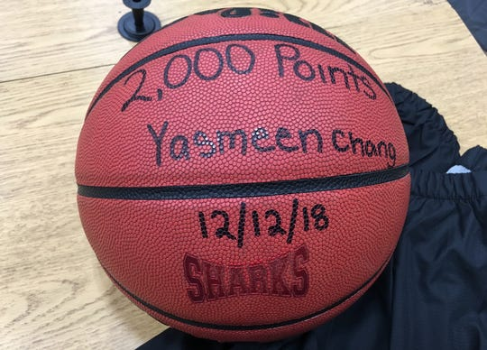 Yasmeen Chang's 2,000-point club basketball