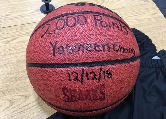 Yasmeen Chang's 2,000-point club basketball