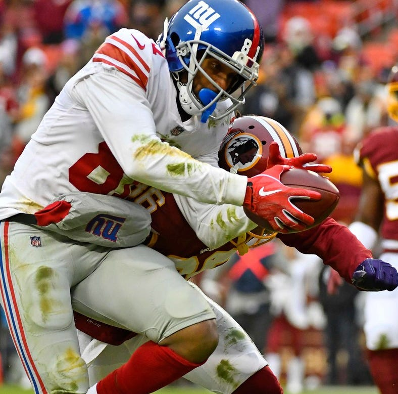 The story behind Giants wide receiver Russell Shepard's backpack