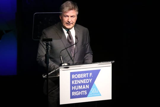 Alec Baldwin was the host at the Robert F. Kennedy Human Rights 2018 Ripple of Hope Gala in New York City.  Wednesday, December 12, 2018