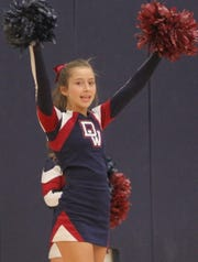 Ayelen Moreno is back to cheering at Wildcat games for the Deming High junior varsity.