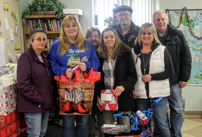 Farmington schools bus drivers came together and bought presents and care packages for both students and senior citizens in the Farmington community.