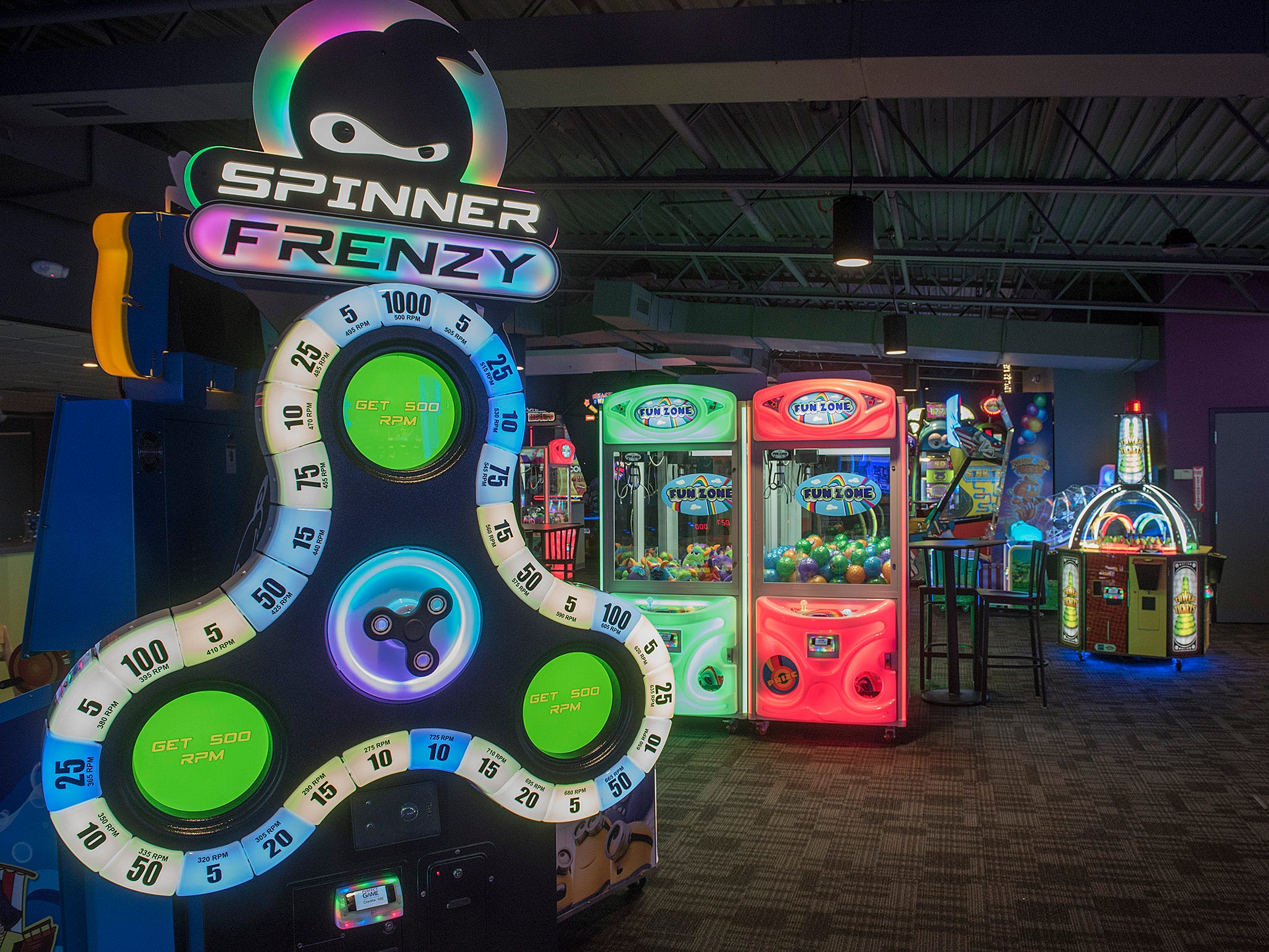 You can get in a frenzy with arcade games at Perfect Game.