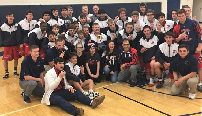 Livonia Franklin captured its fourth straight City championship by edging Churchill by three points, 186-183.