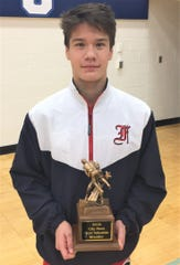 Franklin senior Russ Rusnell, who has earned an appointment to the Naval Academy, was voted Livonia City Wrestling Tournament MVP after winning his division at 130 pounds.