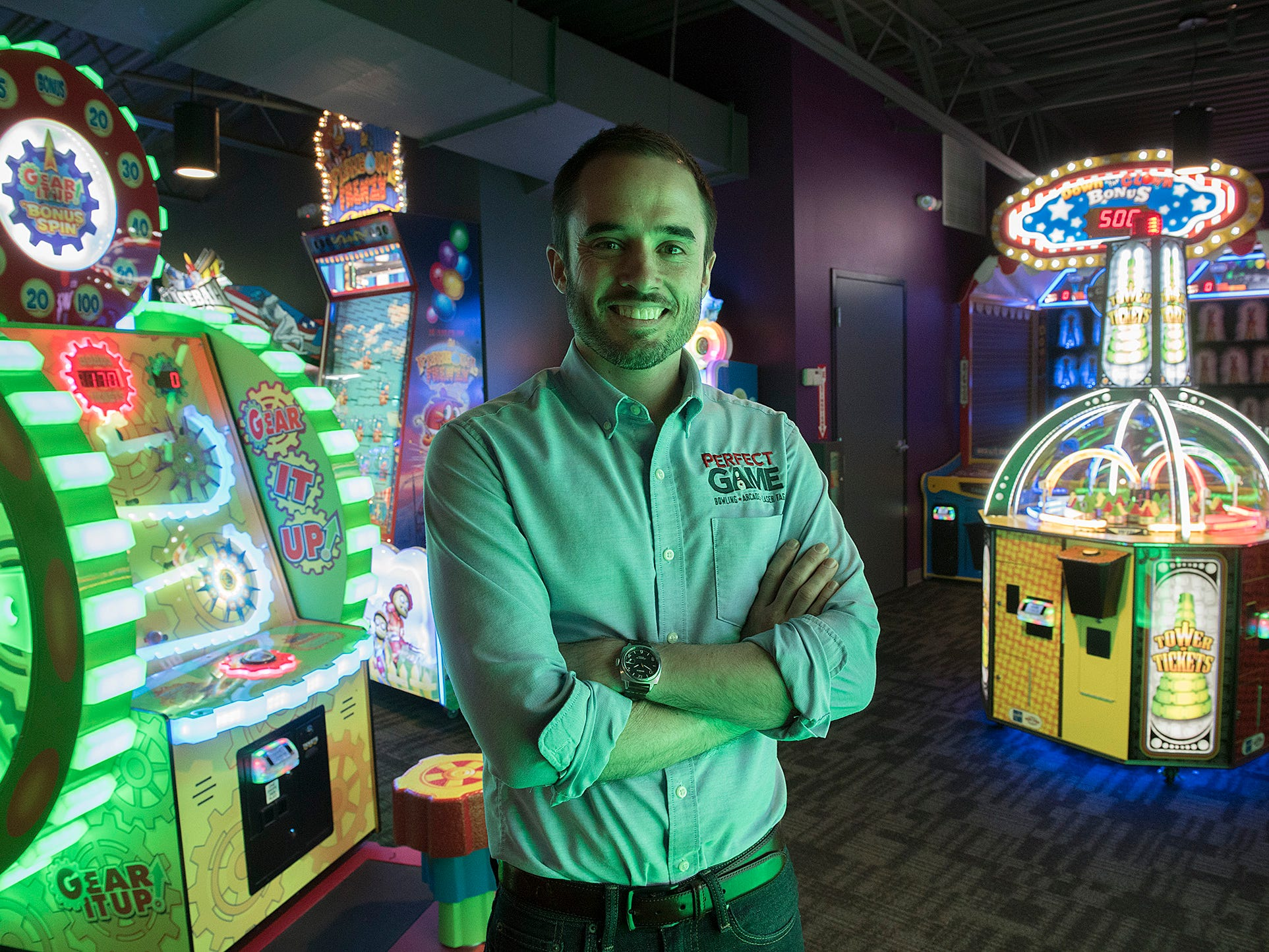 Michael Shearer is a big fan of the arcade games.