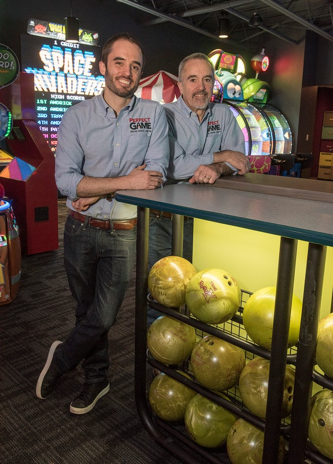 Michael Shearer and his father, Simon Shearer, bought Drakeshire Lanes in Farmington Hills, refurbished the lanes, added a large arcade area and a two-story laser tag arena.