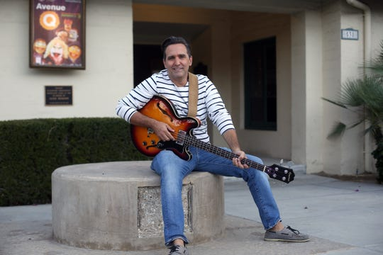 "Actor and former Palm Springs newsman Mike Hatton at the Palm Canyon Theatre on Saturday, November 23, 2018 in Palm Springs. Hatton landed a role as the bass player in the classical trio led by Mahershala Ali in ""Green  Book."""