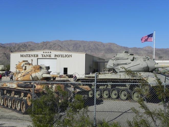 The Matzner Tank Pavilion donated by philanthropist and restaurateur Harold Matzner