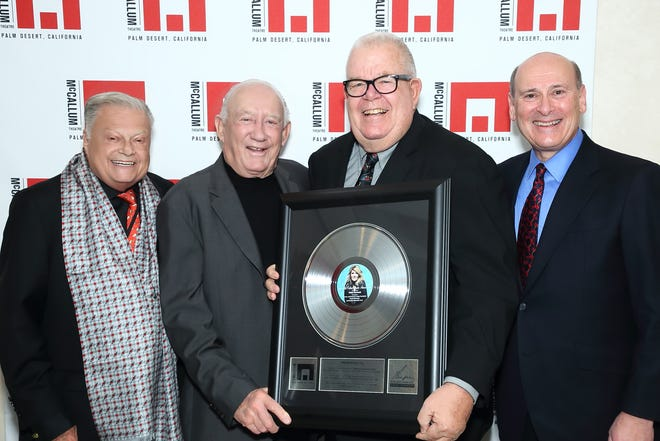 Caption: (L) Harold Matzner, McCallum Chairman and Mitch Gershenfeld, McCallum President and CEO (far R), honored Ronald Auen, President and Chairman and Chris McGuire, Vice President of Programs and the entire Board of Directors of The H.N. and Frances C. Berger Foundation at the Theatre's annual Gala. The Berger Foundation is the Theatre's largest donor, having given the Theatre more than $6 million.