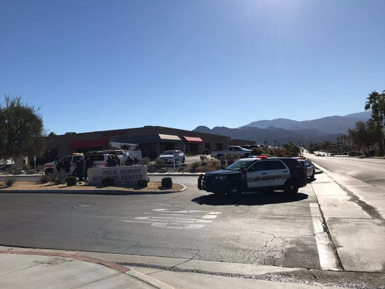 Law enforcement responds to threats at business park at Cook Street and Hovley Lane. All access to the plaza has been cut off. (Dec. 13, 2018)