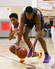 Shadow Hills' Malachi Murrell steals the ball from his opponent.