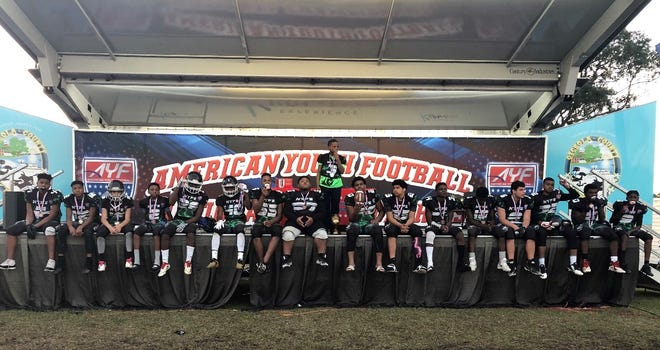 The Pensacola Hype Panthers after finishing third at the AYF National Championships.