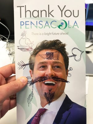 Taxpayers were charged nearly $13,000 to send out the former mayor's mailer to citizens in Pensacola and some fiend defiled mine.