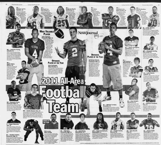 The 2011 PNJ All-Area Football Team.