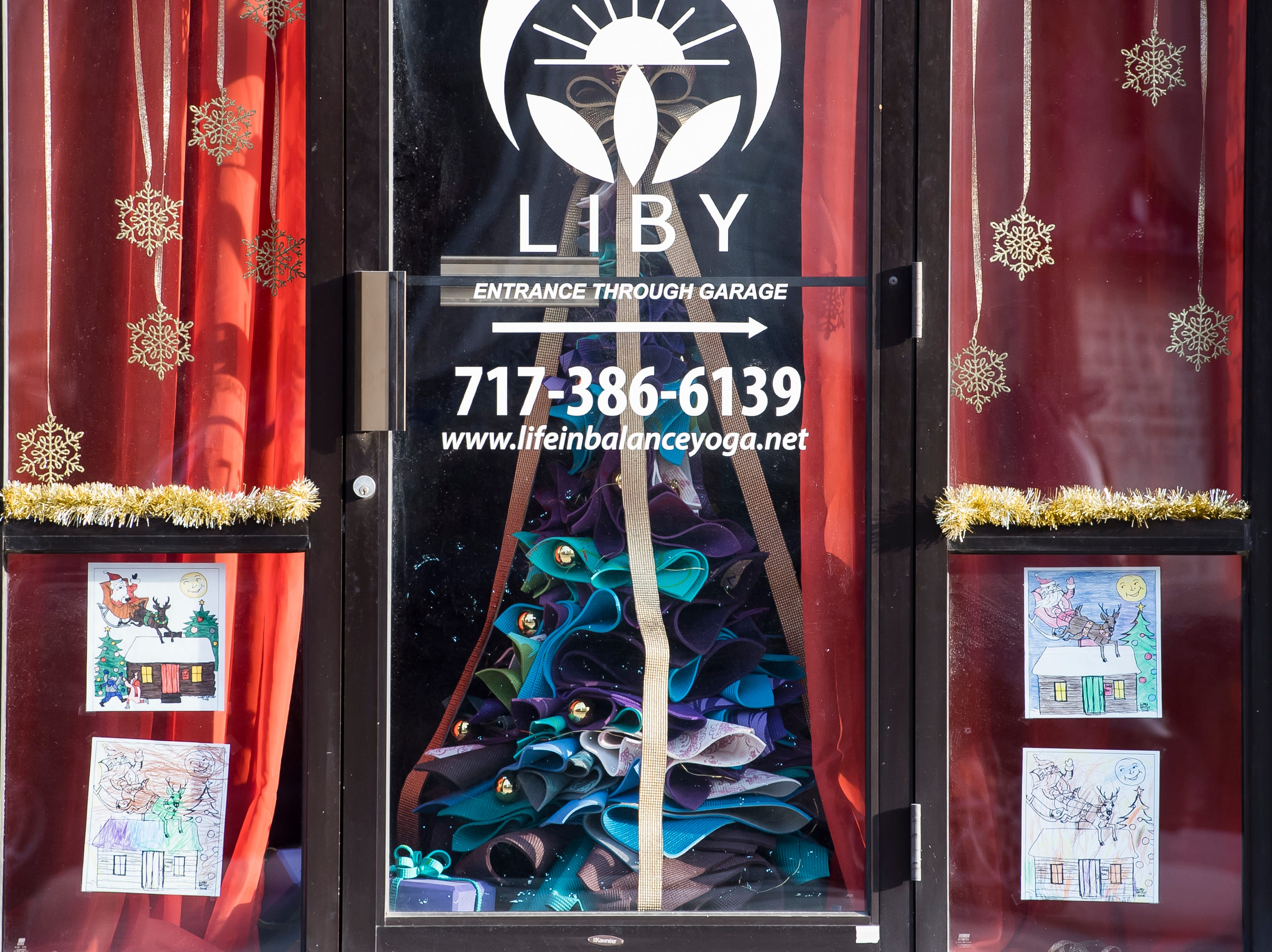 Life in Balance Yoga, Winding Willow Studio, Sisters at Wicks End and Kelly Belle Crystals located at 129 Broadway. Visit mainstreethanover.org for details about Christmas Tree Wars.