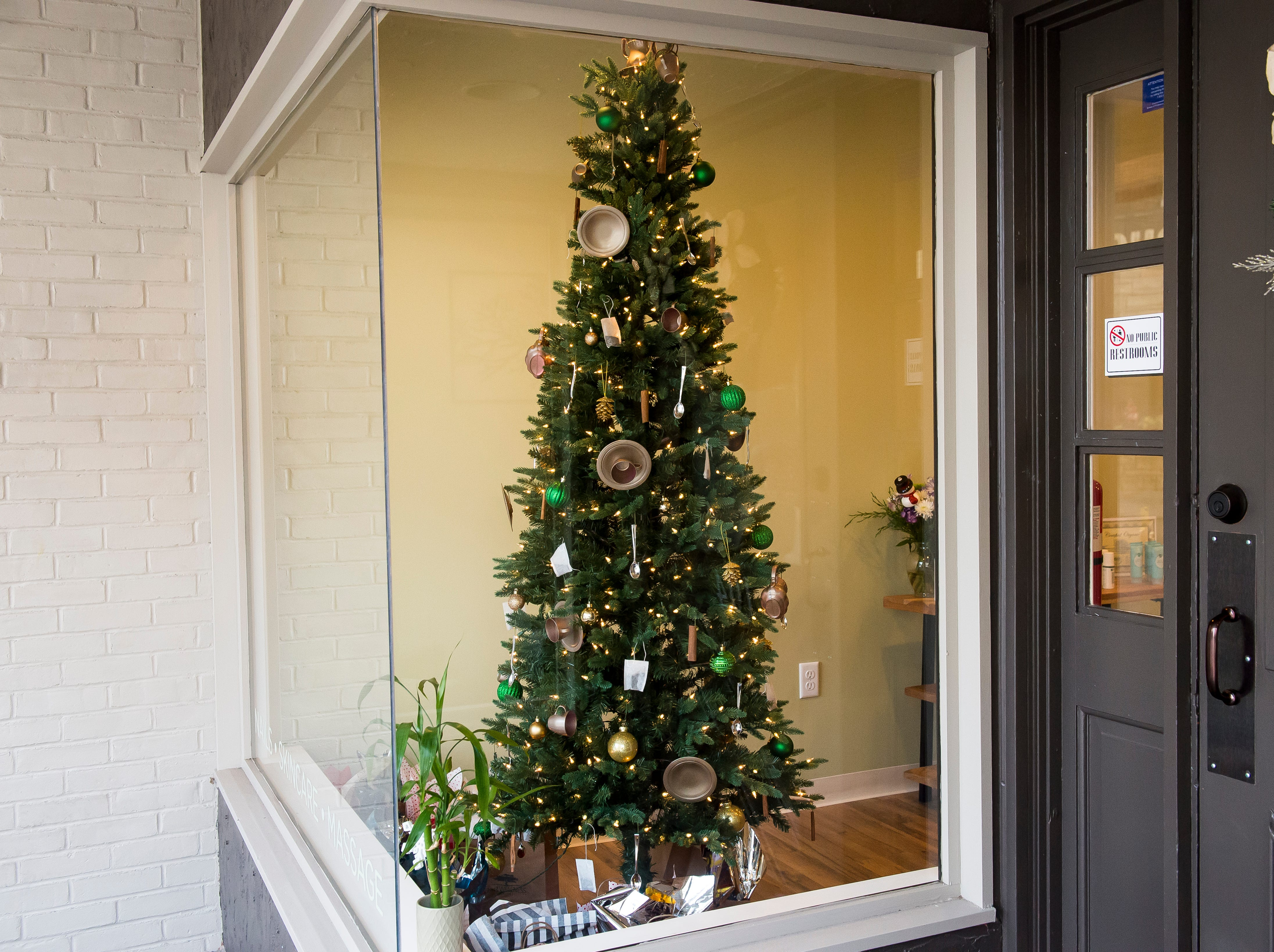 Just Wellness LLC located at 104 Broadway. Visit mainstreethanover.org for details about Christmas Tree Wars.