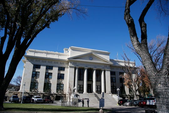 This Nov. 19, 2018, photo shows the Yavapai County Court House in Prescott, Ariz., where Joseph Soldwedel, the owner of a chain of small Arizona newspapers, and his wife are locked in a nasty divorce case that includes allegations of poisoning. Prosecutors have cleared Felice Soldwedel of any wrongdoing in the alleged scheme, but that hasn't stopped Joseph Soldwedel from pursuing his claims in civil court and chronicling them in his company's newspaper.