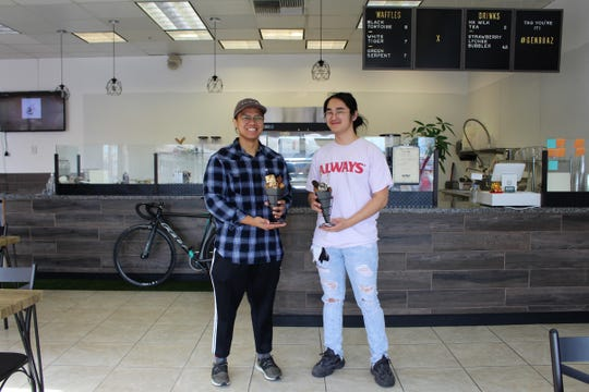 Owners Alexander Cruz (left) and Matthew Wong (right) at Genbu Waffles in Mesa.
