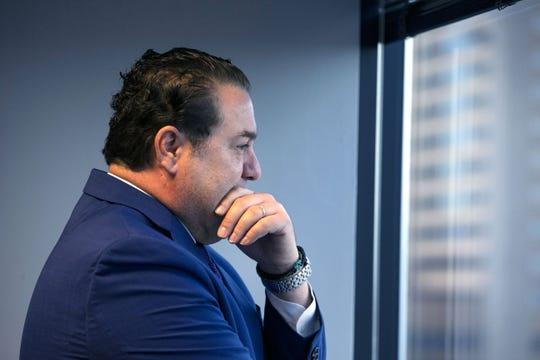 Attorney General Mark Brnovich speaks to The Arizona Republic editorial board on Oct. 4, 2018.