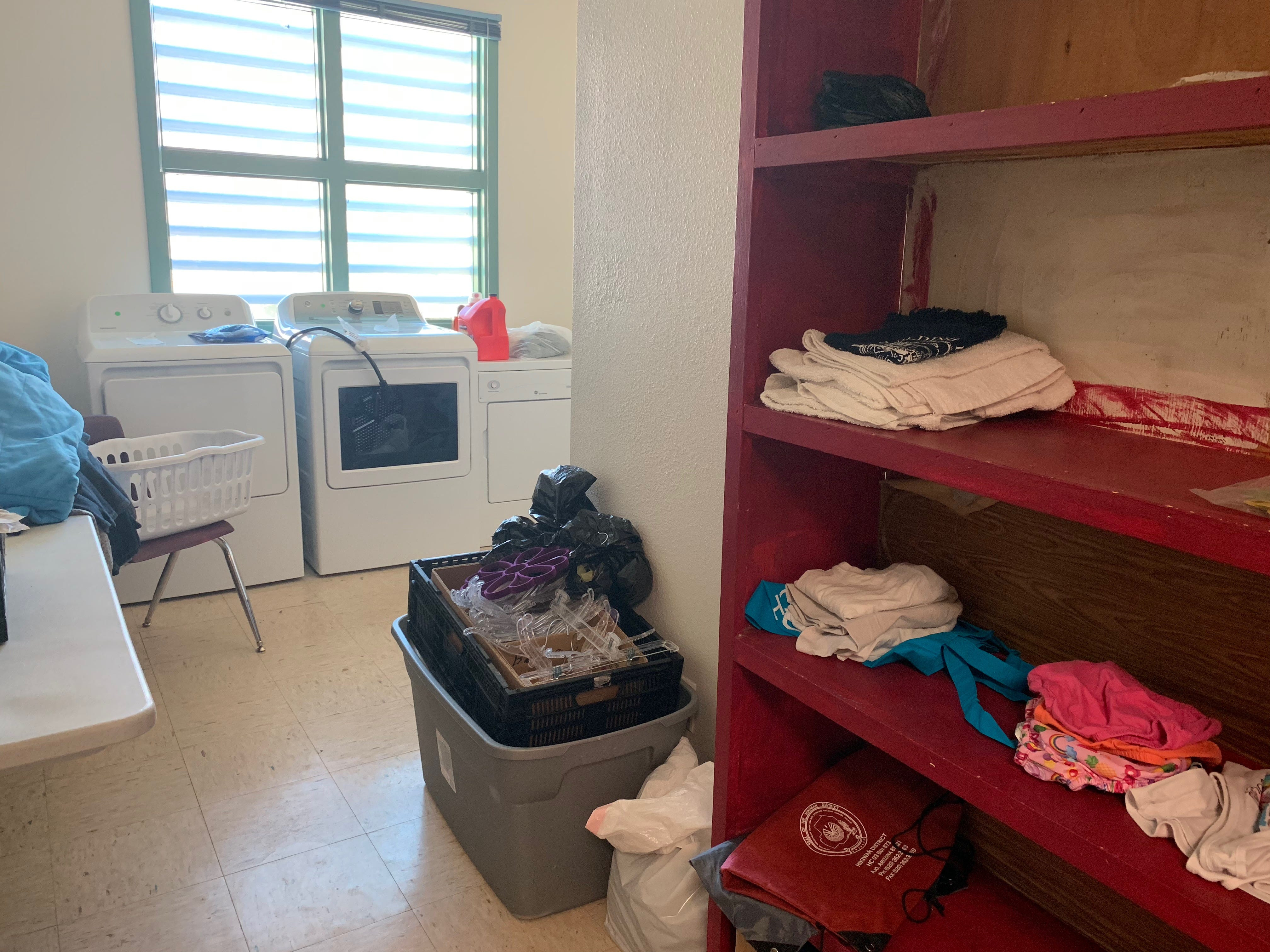 Students who struggle with attendance because of dirty clothes can have their clothes washed while at school.