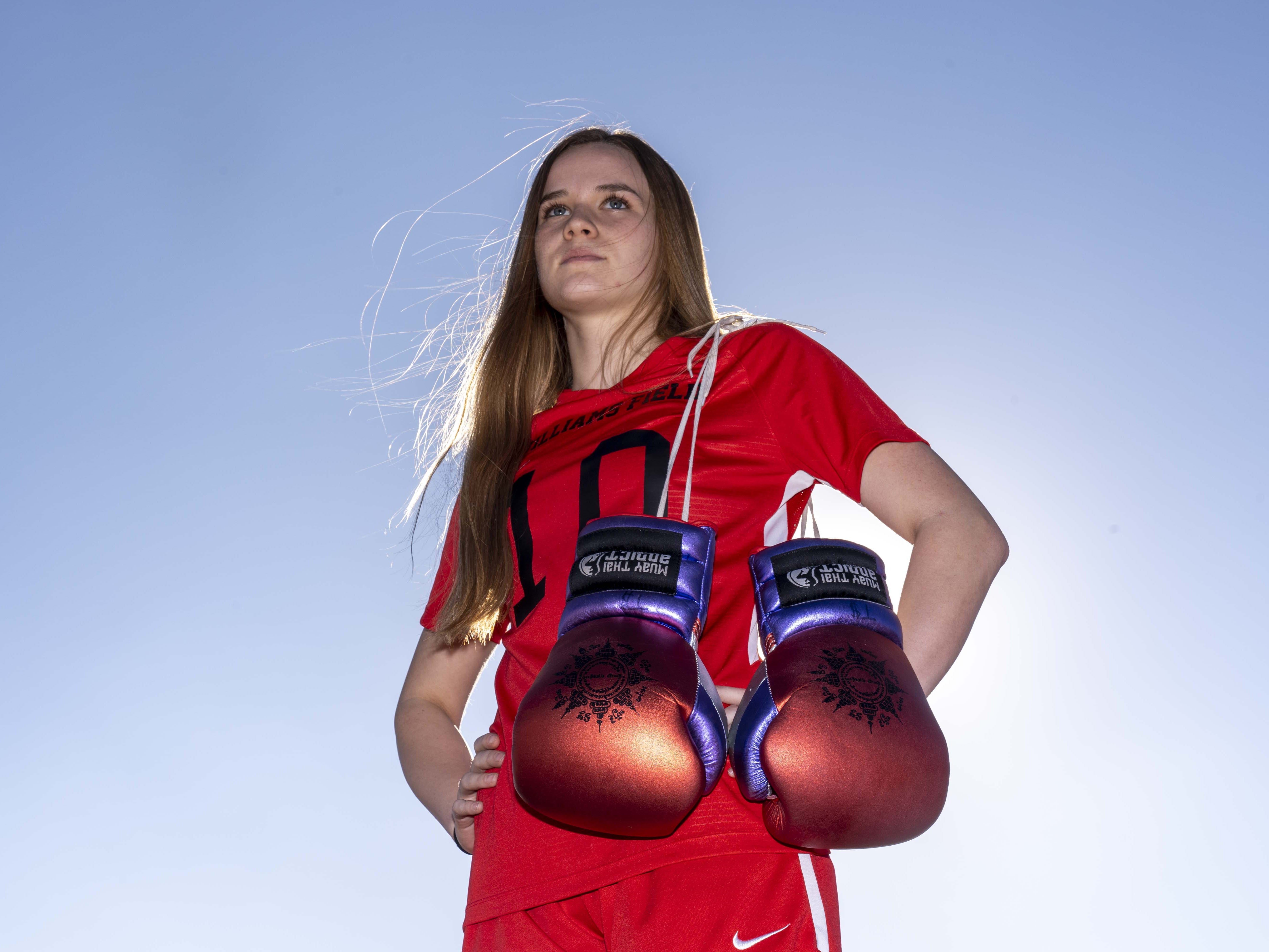 Tierra Brandt is a top soccer player but is also regarded as one of the nation's  best female boxers. She's also considered one of the top Muay Thai fighter in the world for her age.