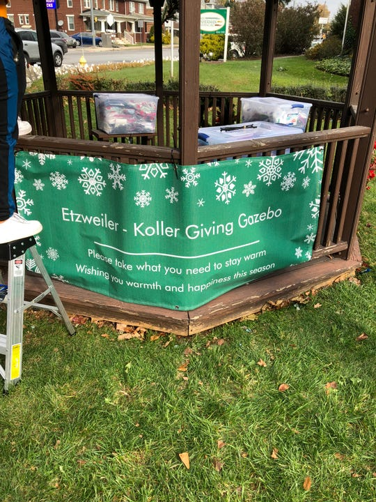 The Etzweiler family, which runs the Etzweiler Family Funeral Service, has set up a Giving Gazebo in West York, where winter warmth items will be stored until Dec. 23, available for the taking by anyone in need.