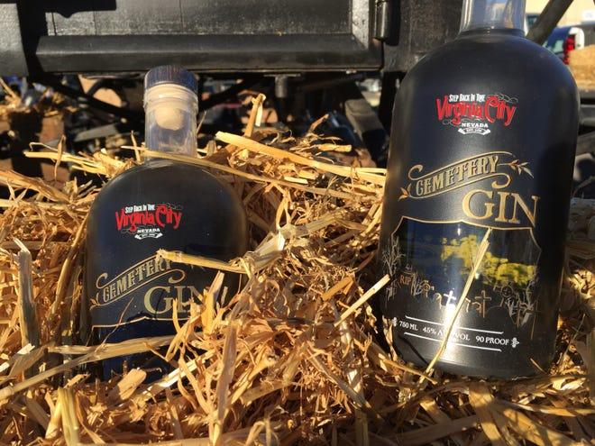 Cemetery Gin is distilled by Frey Ranch Distillery of Fallon for the town of Virginia City. Sales benefit the restoration of Virginia City graveyards.