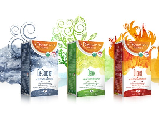 The Ayurvedic Infusions line of teas from Davidson's Organics is designed to promote better digestion and other benefits.