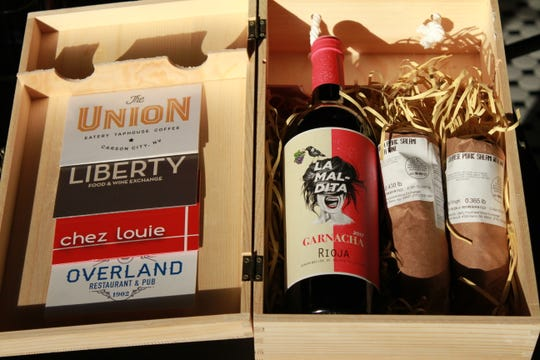 The Reno Local Food Group gift box includes gift cards to four restaurants owned by chef Mark Estee.