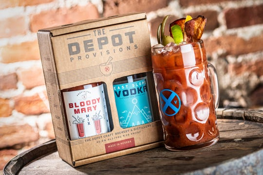 The Depot Provisions bloody Mary two-pack unites housemade bloody Mary mix with the Depot's East Slope Vodka.