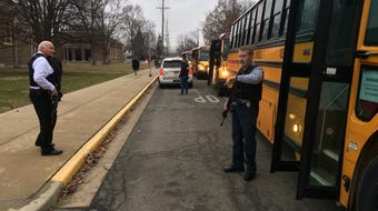 Officers arrived at Dennis Intermediate School at the same time as a teen shooter, police said.