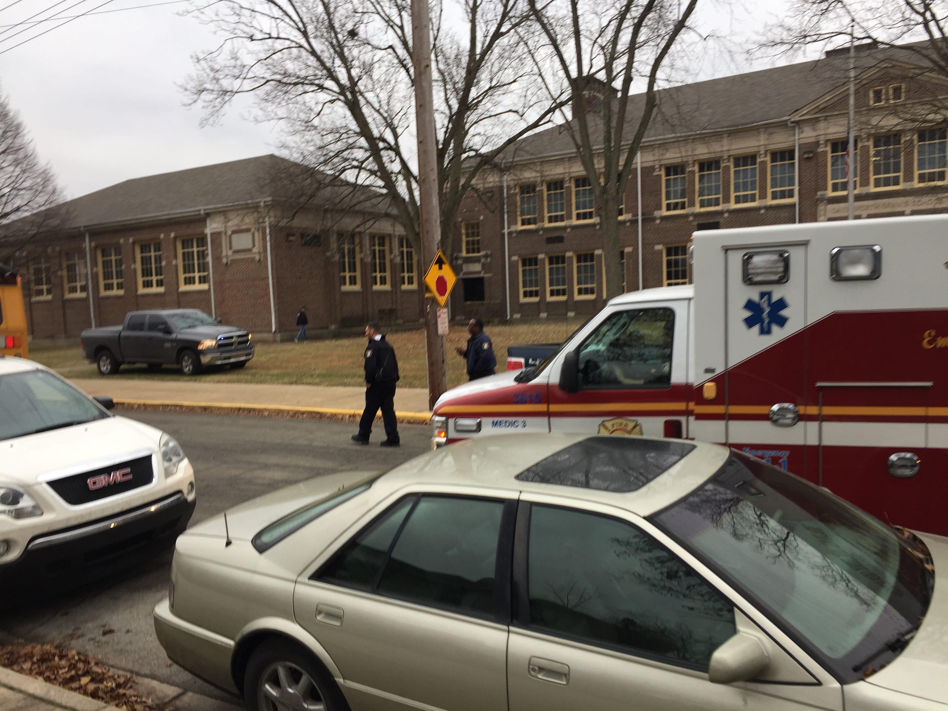 The scene at Dennis Intermediate School.