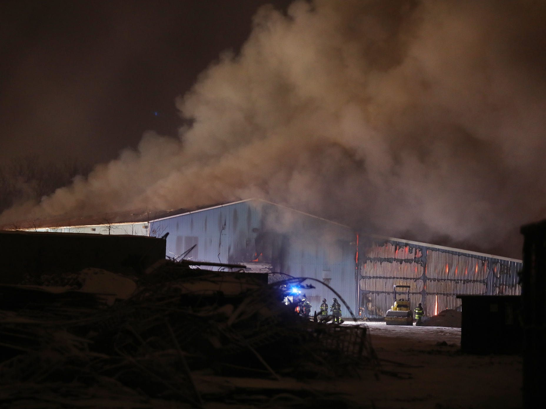 Smoke poured off the building and could be seen for blocks.
