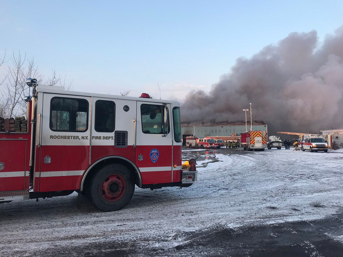 The fire was reported about 3:45 a.m. at 11 Cairn Street, which is a warehouse for Premier Metals Group.