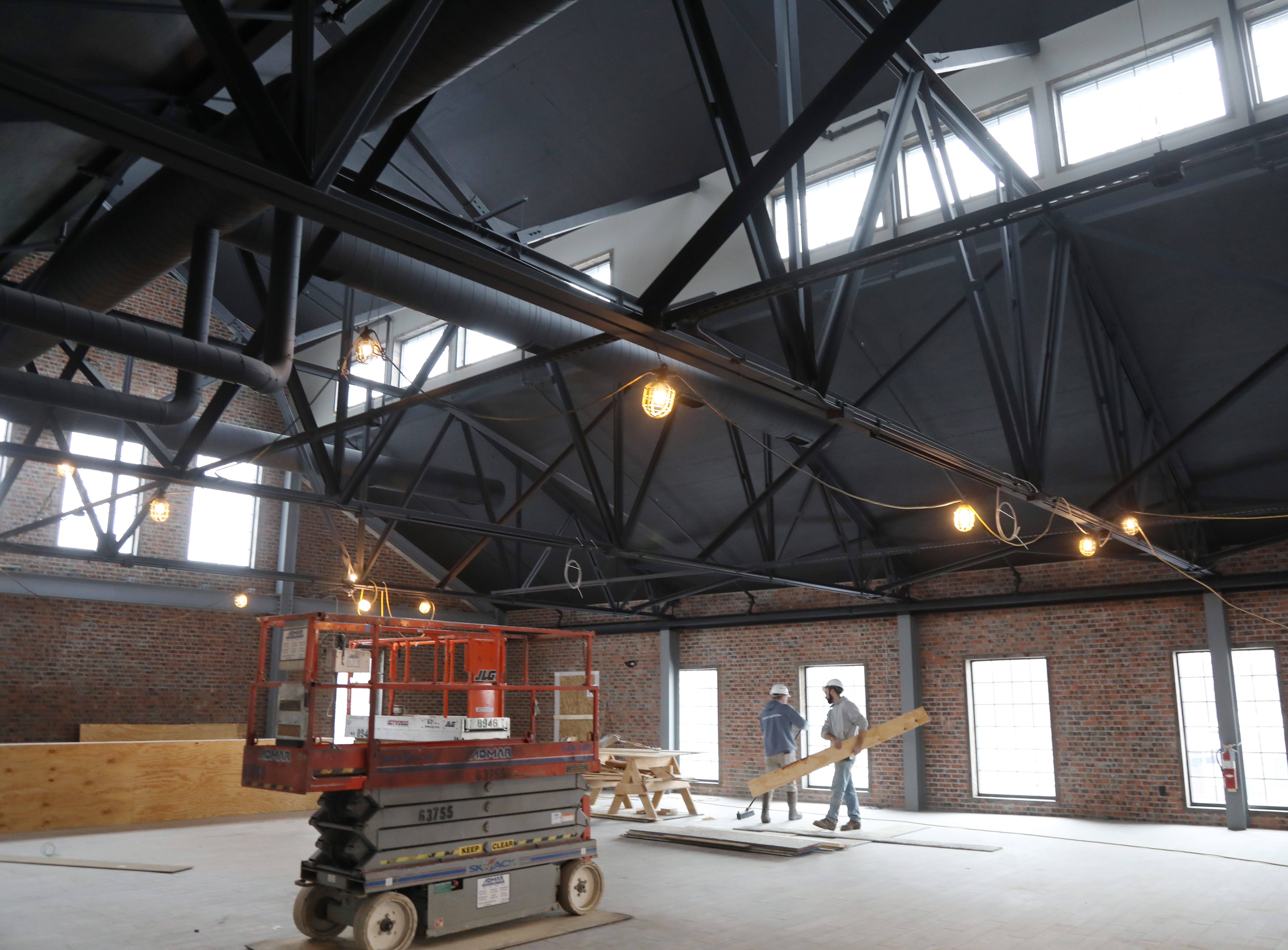 The second floor that over look the tap room of the At New York Beer Project in Victor.