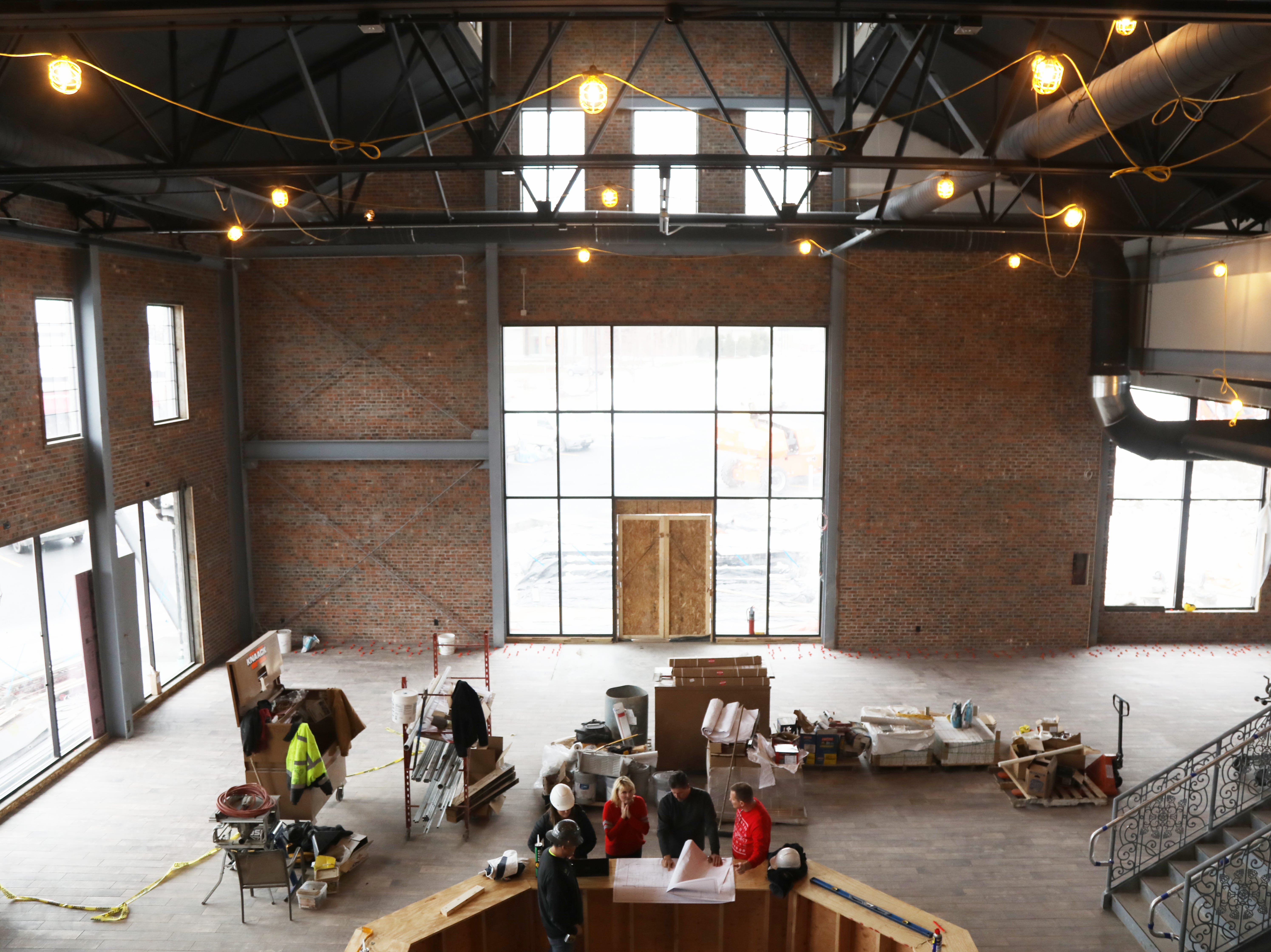 Look down on the tap room from the second floor of the New York Beer Project in Victor.
