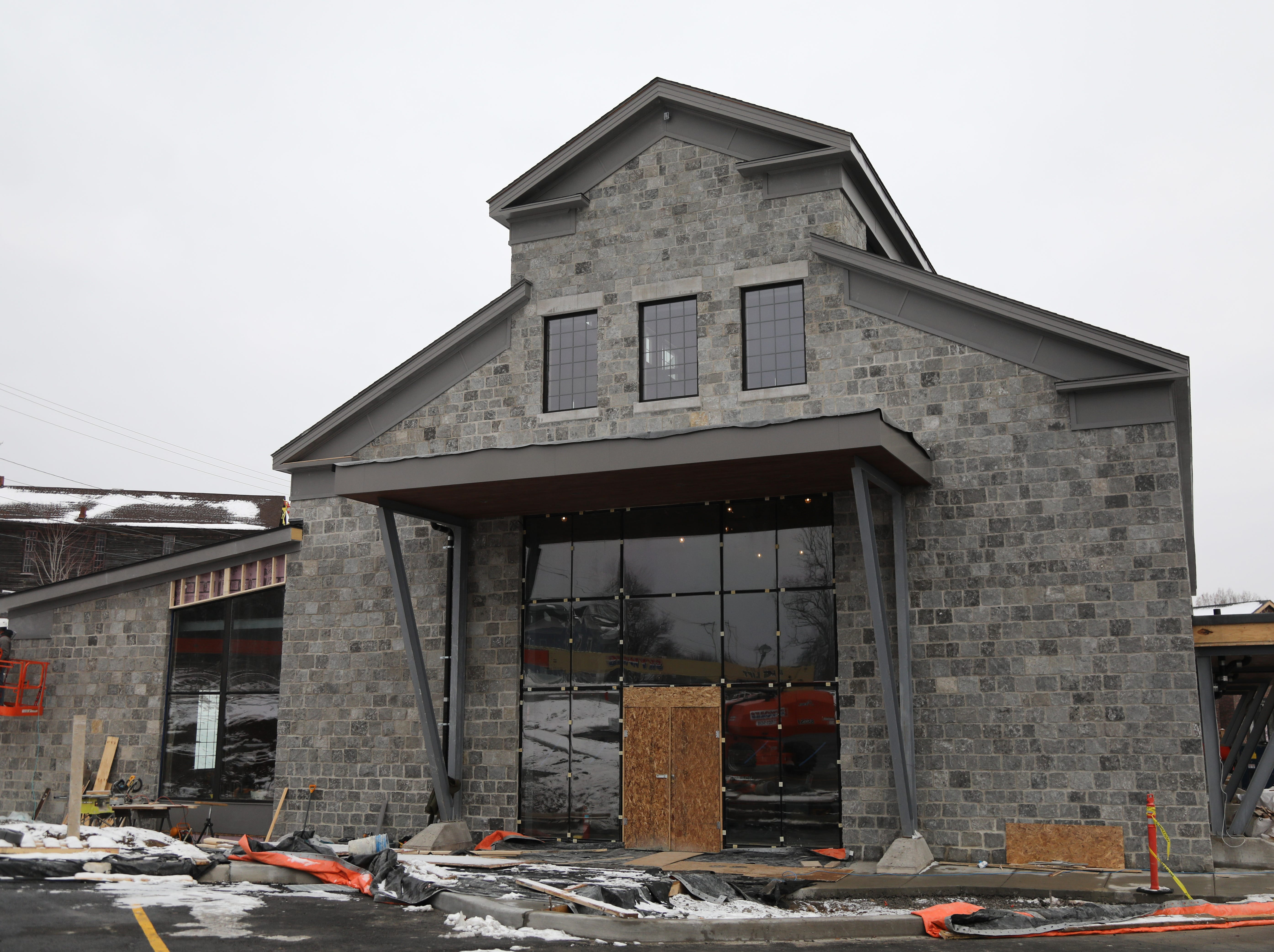 The main entrance to the  New York Beer Project in Victor.