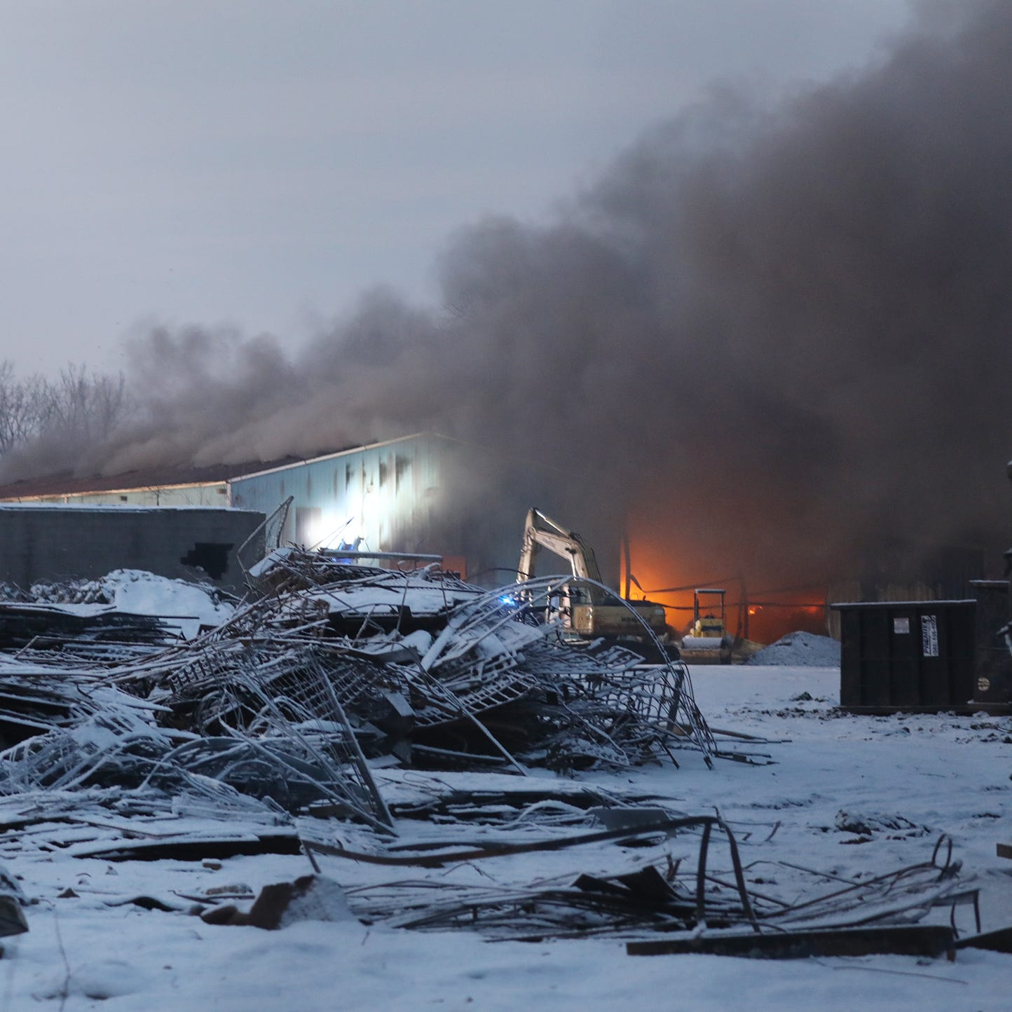 Large fire ravages Premier Metals warehouse on Cairn Street in Rochester