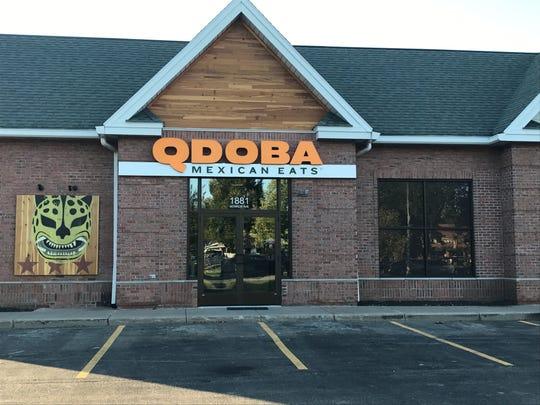 A Qdoba restaurant.