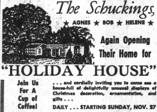 Holiday House advertisement as it appeared in the Statesman Journal November 25, 1960.